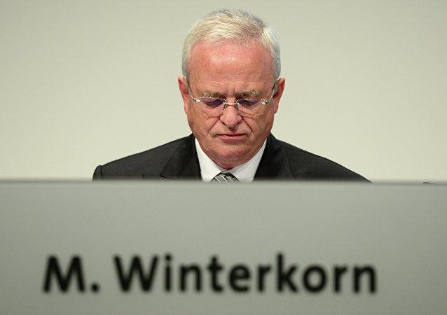 Martin Winterkorn, presidente de la compañía Volkswagen