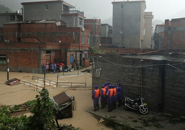 Inundación en China (archivo)