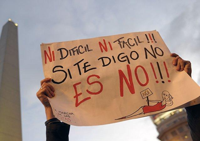 Protestas contra maltrato sexual en Argentina (Archivo)