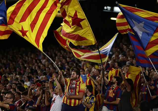 Catalanes se manifiestan en Barcelona