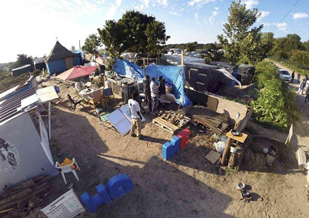 Campo de refugiados en Calais, Francia