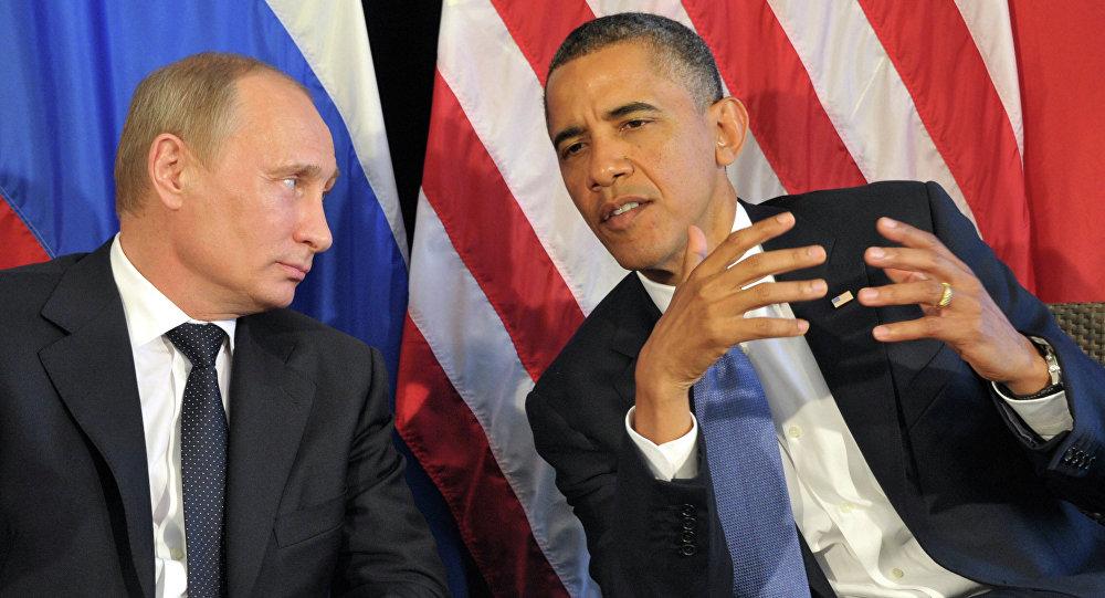 Presidente de Rusia, Vladímir Putin, y presidente de EEUU, Barack Obama