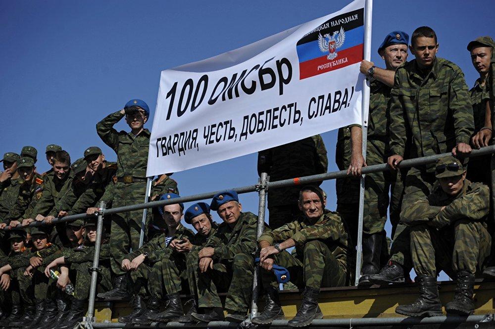 Biatlón de tanques en Donbás