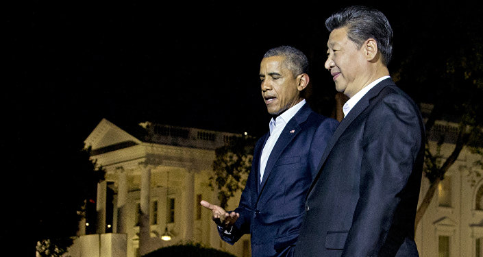 Presidente de EEUU, Barack Obama y presidente de China, Xi Jinping