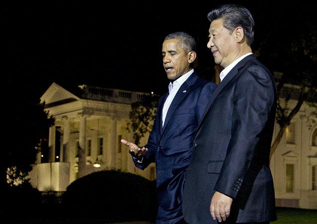 Presidente de EEUU, Barack Obama y presidente de China, Xi Jinping durante una reunión en septiembre de 2015