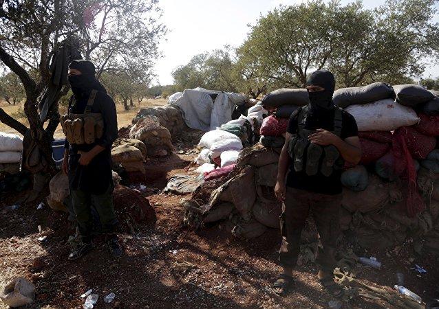Terroristas del Frente al Nusra en Siria