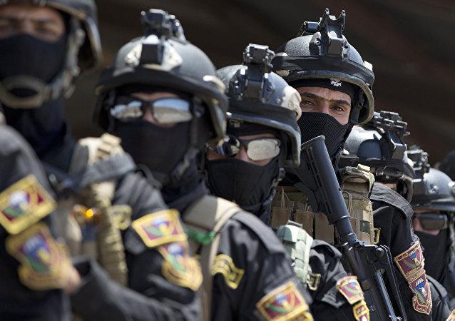 Las fuerzas iraquíes del Servicio Antiterrorista