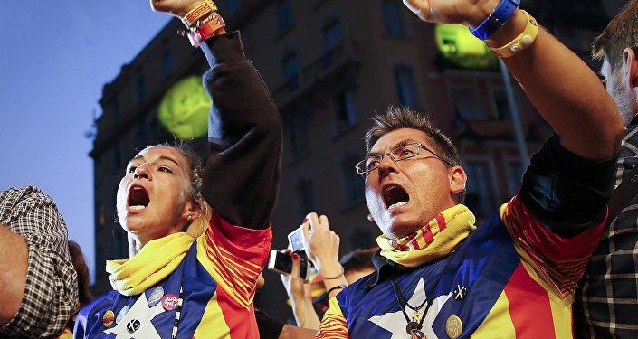 Seguidores de la independencia catalana