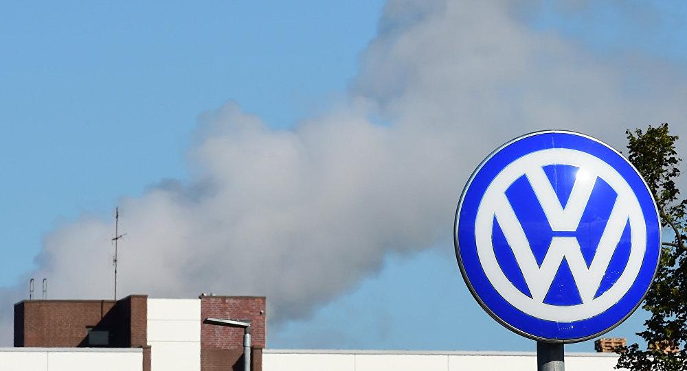 Logotipo del fabricante alemán de automóviles Volkswagen, Wolfsburg