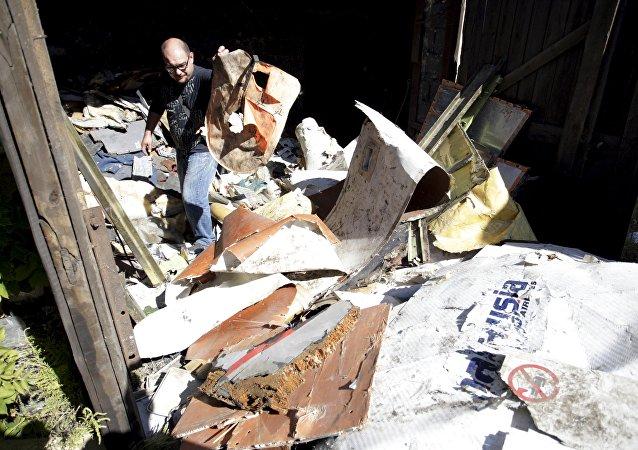 Escombros del Boeing MH17