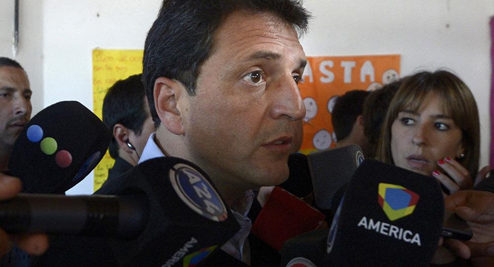 Sergio Massa, candidato presidencial, fundador del Frente Renovador