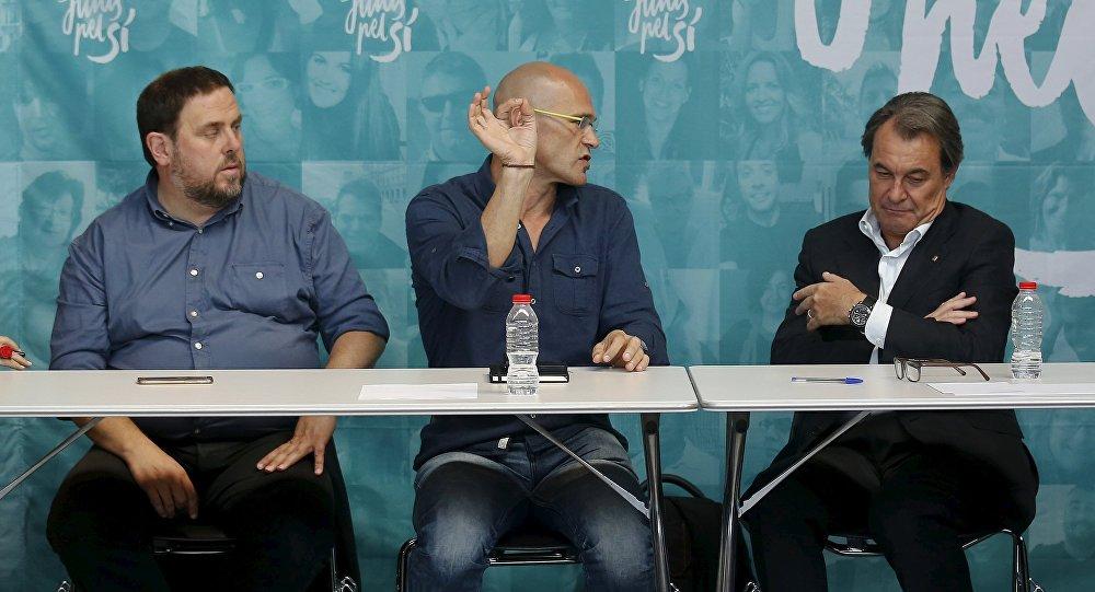Oriol Junqueras, Raul Romeva y Artur Mas