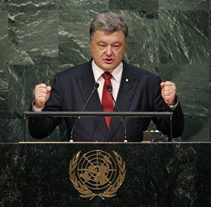 Petró Poroshenko, presidente de Ucrania, durante la sesión de la Asamblea General de la ONU, el 29 de septiembre, 2015