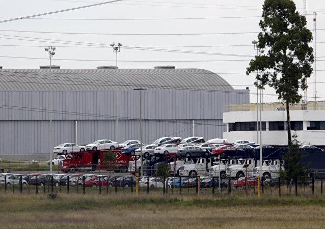 La planta Volkswagen México en central estado de Puebla