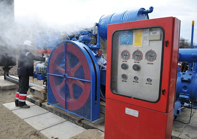 Estación de compresores en la región de Lvov, Ucrania
