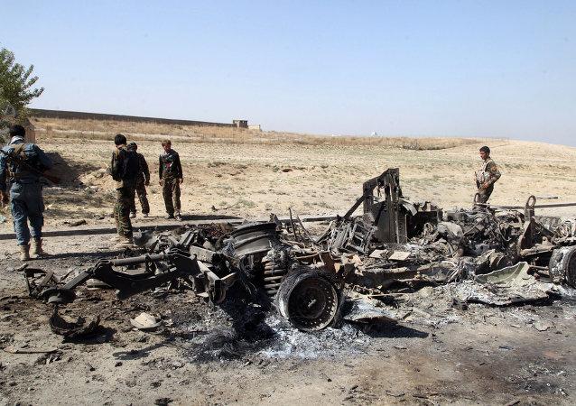 Coche bomba en Afganistán (imagen referencial)