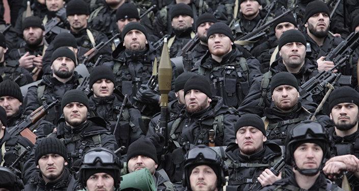 Combatientes de las Fuerzas Especiales chechenas