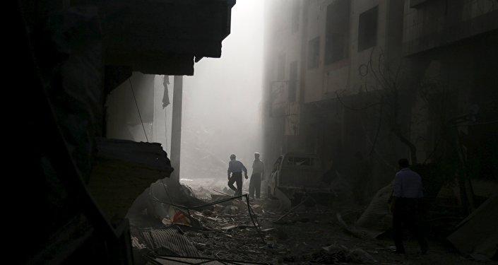 La localidad de Guta Oriental, suburbio de Damasco (Archivo)