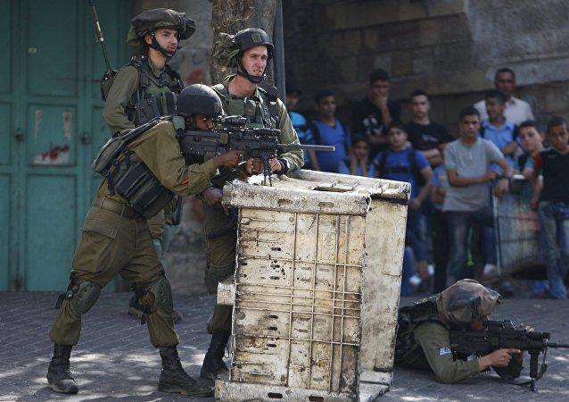 Soldados israelíes en Cisjordania