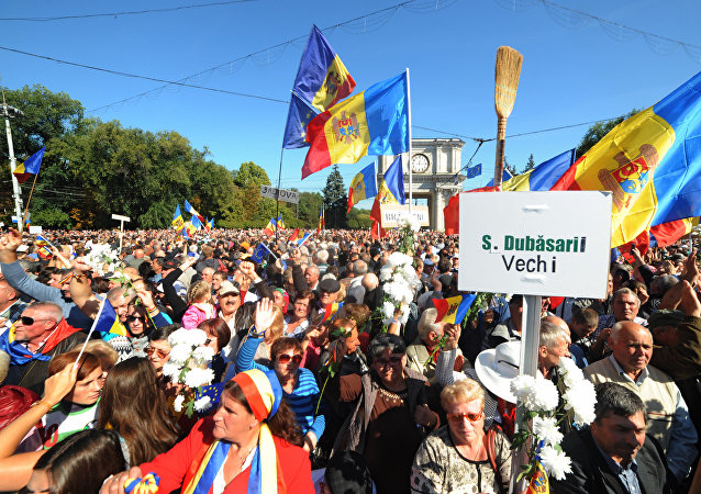 Mitin antigubernamental en Chisinau