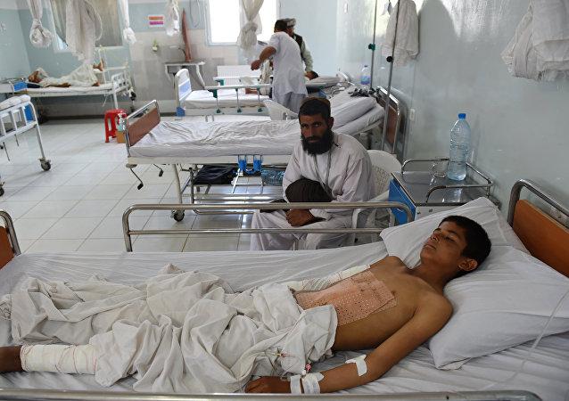 Niño afgano en el hospital de MSF