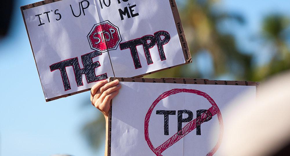 Protesta contra el TPP (Archivo)