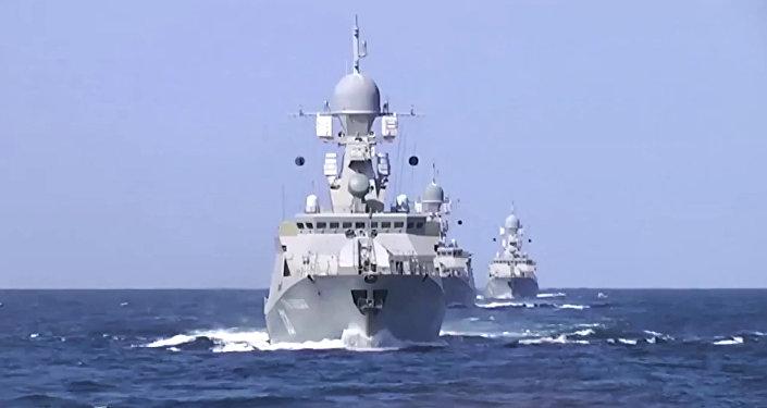 Buques de Flotilla de Caspio que lanzaron misiles de crucero contra EI