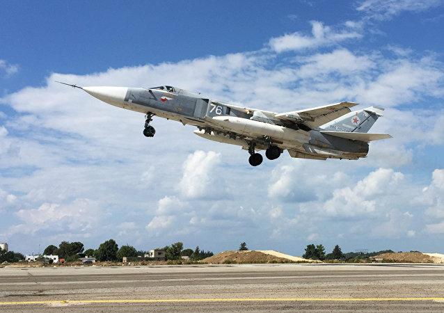 Caza ruso Su-24 en Siria