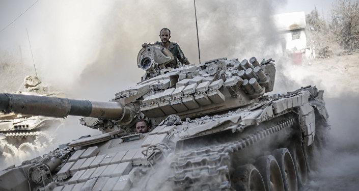 Ejército sirio en afueras de Damasco (Archivo)