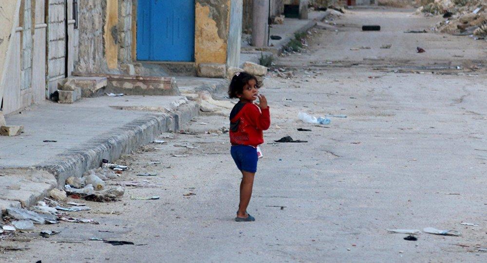 Una niña en Alepo, Siria