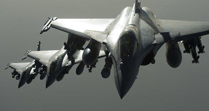 Los cazas Rafale de Francia
