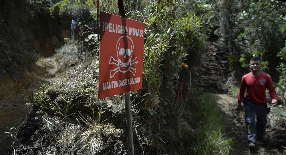 Campo minado en Colombia