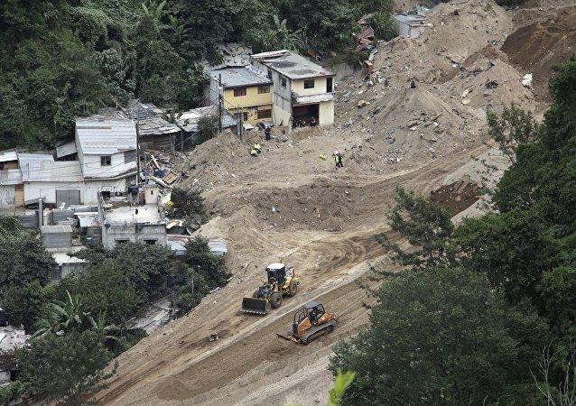Deslizamiento de tierra en Guatemala (archivo)