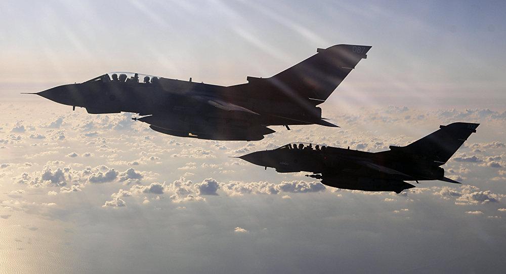 Cazas la Real Fuerza Aérea (RAF) británica