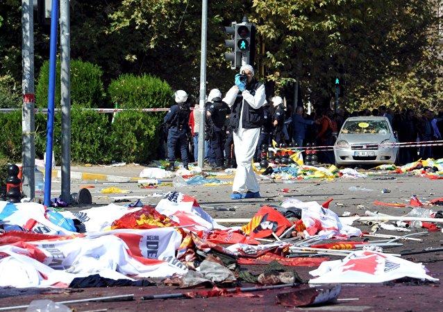 Lugar del atentado en Ankara