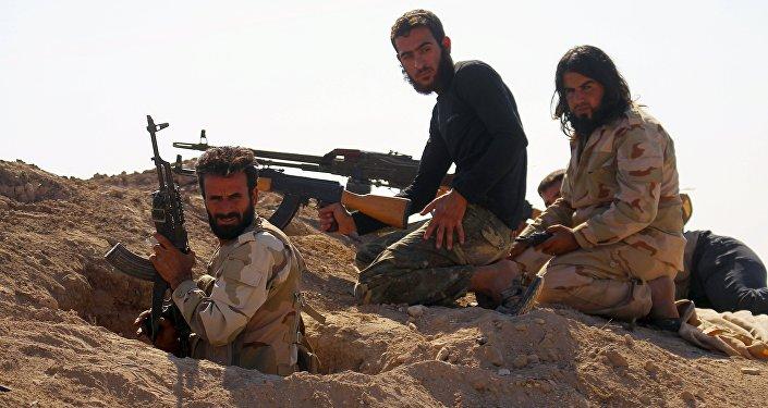 Combatientes rebeldes sirios