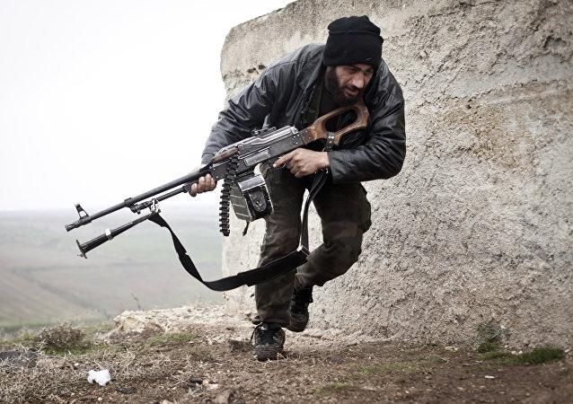 Soldado del Ejército Libre Sirio (archivo)