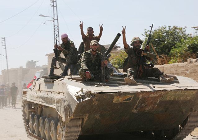 El Ejército gubernamental de Siria (archivo)
