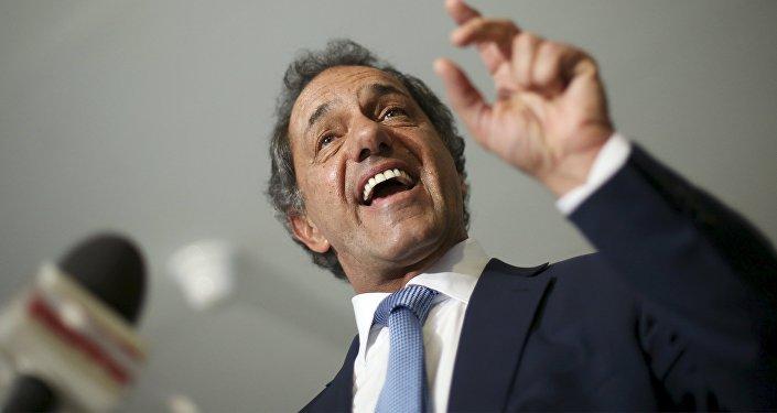 Daniel Scioli, candidato presidencial del oficialismo argentino