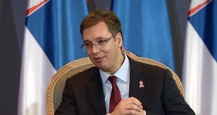 Aleksandar Vucic, presidente de Serbia