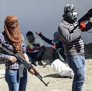 Militantes kurdos armados del Partido de los Trabajadores de Kurdistán