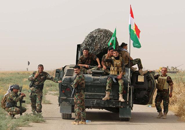 Las milicias armadas kurdas peshmerga