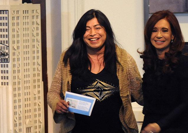 Diana Sacayán con Cristina Fernández de Kirchner