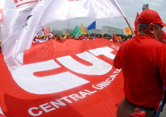Manifestación de la CUT en Brasil