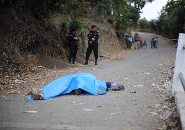 Mujer linchada en Guatemala