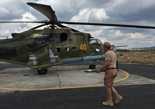 Helicópteros de las Fuerzas Aéreas de Rusia en Siria (archivo)