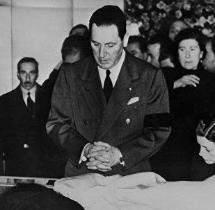 El presidente de Argentina Juan Domingo Perón