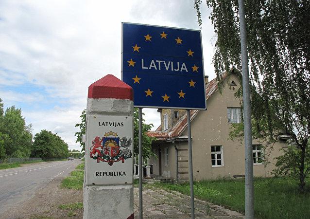 Frontera de Letonia