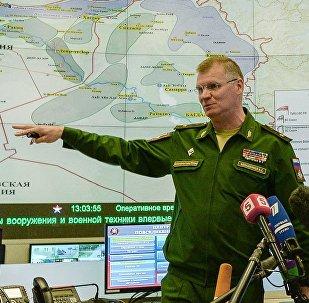 El general mayor Ígor Konashenkov, portavoz del Ministerio de Defensa de Rusia
