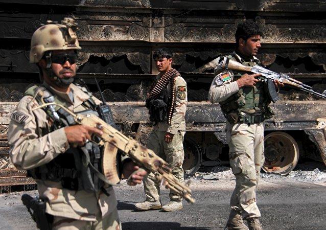 Militares de las Fuerzas de Seguridad de Afganistán (archivo)